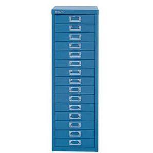 BISLEY MultiDrawer™ L3915 Schubladenschrank blau/blau 15 Schubladen