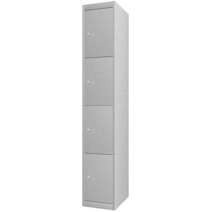 BISLEY OFFICE Schlie�fachschrank mit 4 F�cher, b30xt45xh180cm
