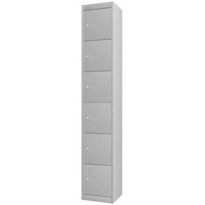 BISLEY OFFICE Schlie�fachschrank mit 6 F�cher, b30xt30xh180cm