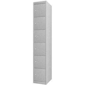 BISLEY OFFICE Schlie�fachschrank mit 6 F�cher, b30xt45xh180cm