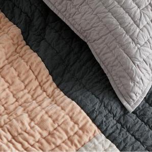 Bloco Patchwork Bedspread, Pink & Grey