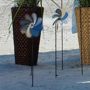 BLOMUS Deko-Windrad H/T: 73,5 cm x 6,5 silberfarben Dekostecker Gartendekoration Garten Balkon