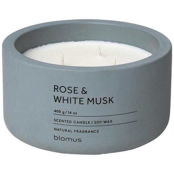 Blomus Fraga Duftkerze Rose & White Musk, Duft Kerze, Beton,