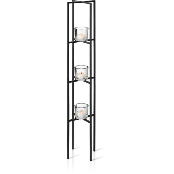 BLOMUS Kerzenständer NERO 21x21x100 cm schwarz Kerzenhalter Kerzen Laternen Wohnaccessoires