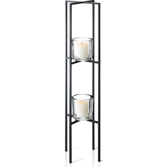 BLOMUS Kerzenständer NERO 24x24x90 cm schwarz Kerzenhalter Kerzen Laternen Wohnaccessoires