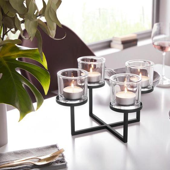 BLOMUS Teelichthalter NERO 32x32x18 cm schwarz Kerzenhalter Kerzen Laternen Wohnaccessoires