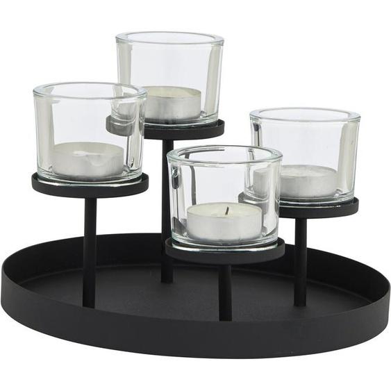 BLOMUS Teelichthalter »NERO«, 4-flammig