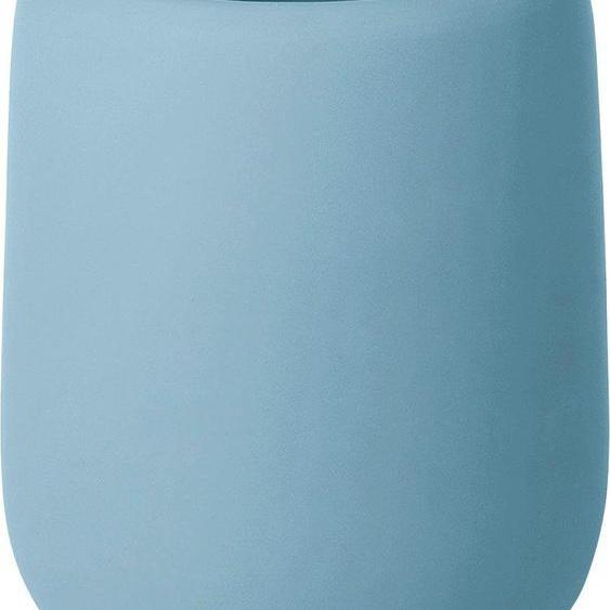 BLOMUS Zahnputzbecher SONO 8,5x8,5x11 cm blau Badaccessoires Badmöbel Dekobecher