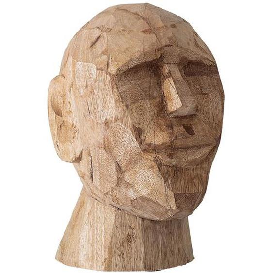 Bloomingville Büste Skulptur Braun Gesicht Deko Figur Mango Holz