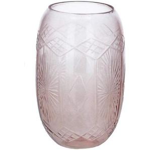 Bloomingville Dekovase »Nuru Vase, Rose, Glass«, Ø9cm x 15cm Glas klassische kleine Blumenvase Dekovase dänisches Design, rose