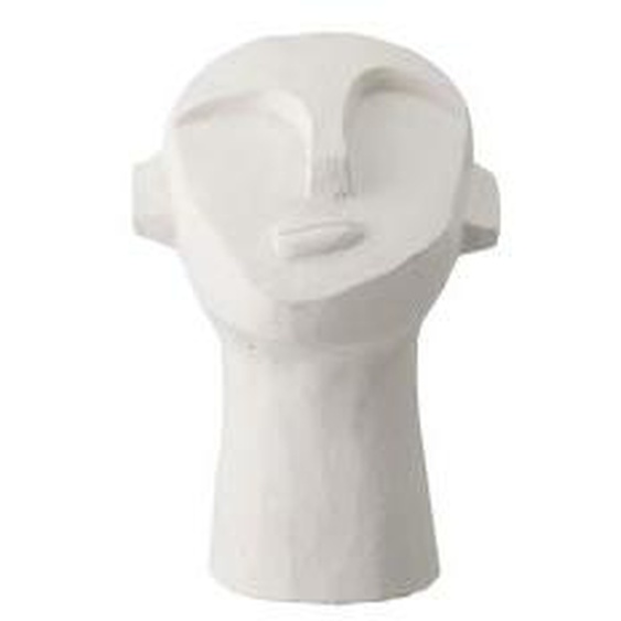 Bloomingville - Kopf Skulptur abstrakt H 22 cm, Beton weiß
