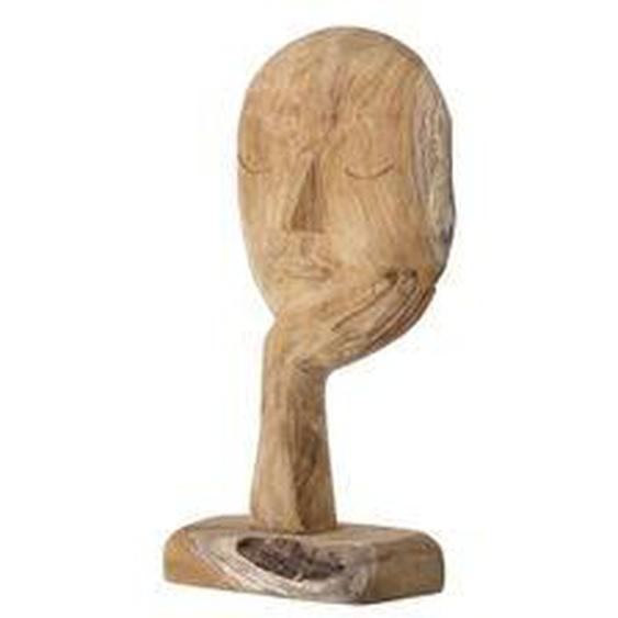 Bloomingville - Kopf Skulptur abstrakt H 35 cm, recyceltes Holz