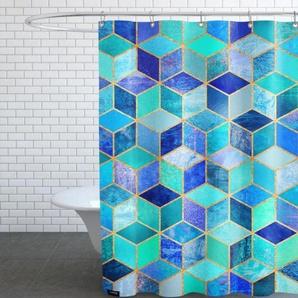 Blue Cubes-Duschvorhang
