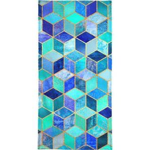 Blue Cubes - Handtuch