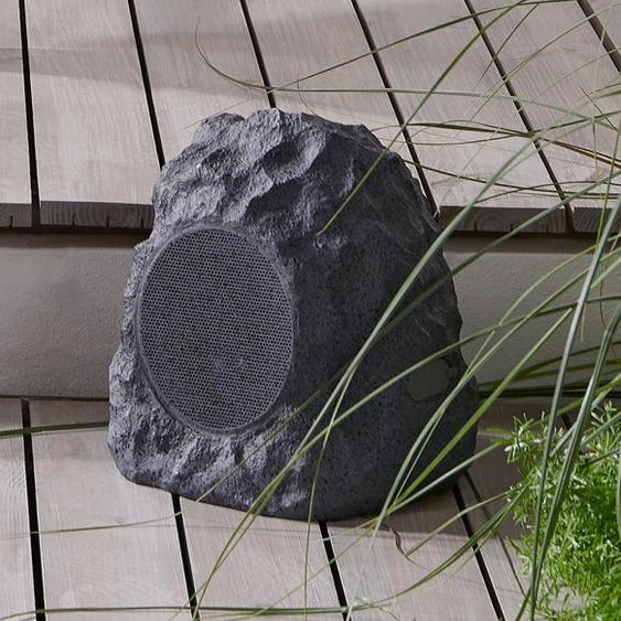 Bluetooth®-Gartenlautsprecher in Steinoptik - Grau -