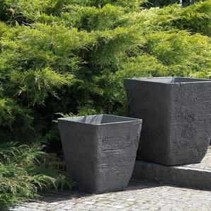 Blumenkübel grau quadratisch 39 x 39 x 43 cm DELOS