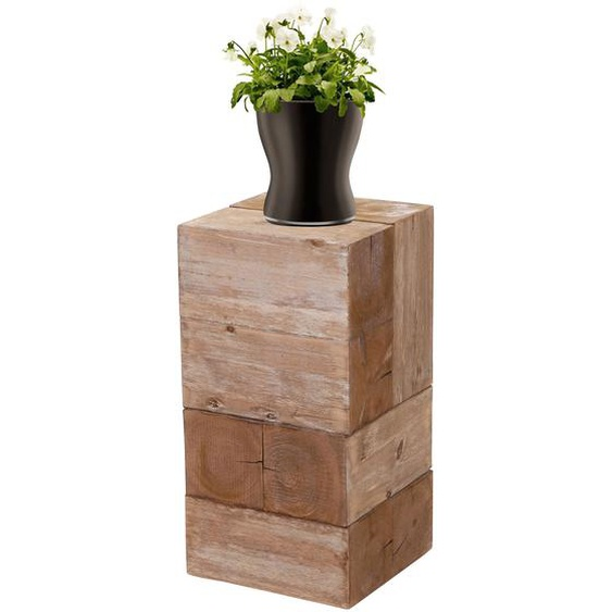 Blumentisch HWC-A15, Blumens�ule Blumenst�nder, Tanne Holz rustikal massiv ~ 60cm