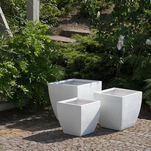Blumentopf weiss quadratisch 39 x 39 x 38 cm ORICOS
