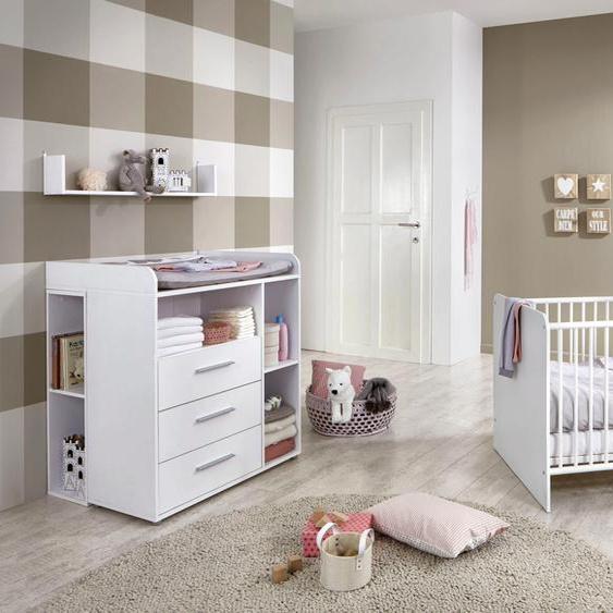 BMG Babymöbel-Set Luis (Set, 5-tlg) Einheitsgröße weiß Baby Baby-Möbel-Sets Babymöbel Schlafzimmermöbel-Sets