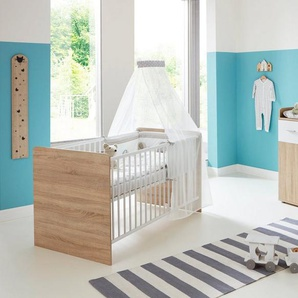 BMG Babymöbel-Set »Maxim«, (Set, 3-St), Bett + Wickelkommode + Unterstellregal