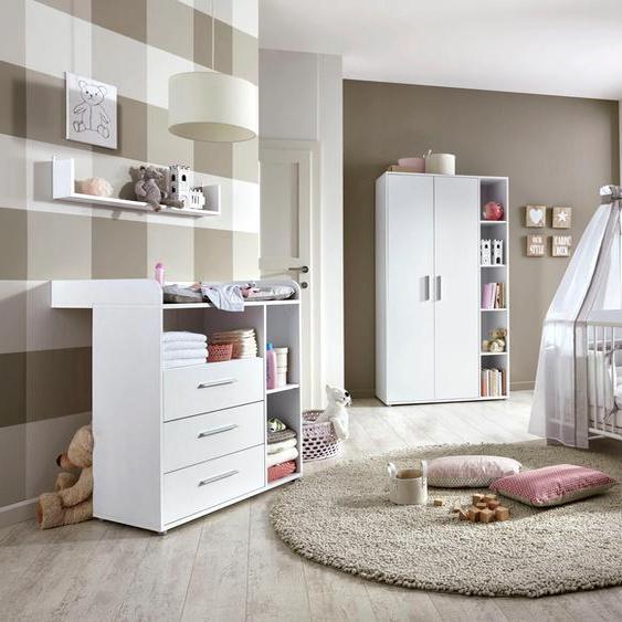 BMG Babyzimmer-Komplettset Luis (Set, 4-tlg) Einheitsgröße weiß Baby Baby-Möbel-Sets Babymöbel Schlafzimmermöbel-Sets
