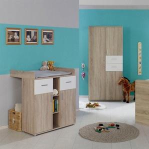 BMG Babyzimmer-Komplettset »Maxim«, (Set, 3-St), Bett + Wickelkommode + 3-trg. Schrank