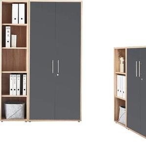 BMG Büro-Set TABOR 4 hoch, (Set, 2 St.) Einheitsgröße grau Büromöbel-Sets Büromöbel