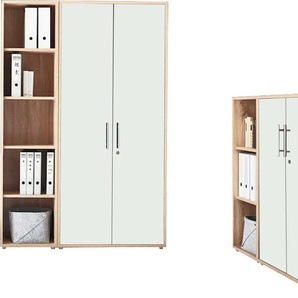 BMG Büro-Set TABOR 4 hoch, (Set, 2 St.) Einheitsgröße weiß Büromöbel-Sets Büromöbel