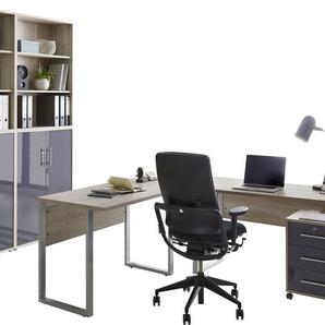 BMG Büromöbel-Set Tabor, (Set, 6 St.) Einheitsgröße beige Büromöbel-Sets Büromöbel