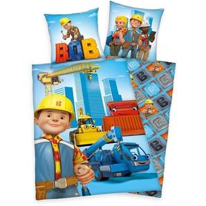 Bob Der Baumeister Kinderbettwäsche »Bob«, 80x80 cm, pflegeleicht, reine Baumwolle, bunt