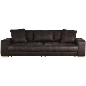 bobb Big Sofa dunkelbraun - Flachgewebe Caro ¦ braun ¦ Maße (cm): B: 302 H: 68 T: 136 Polstermöbel  Sofas  Big-Sofas » Höffner