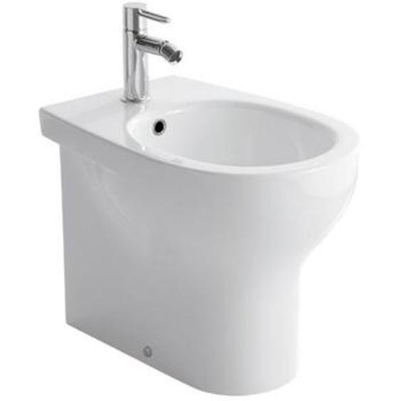 Boden-Bidet 36x52 cm aus keramik | Glänzendes Weiß