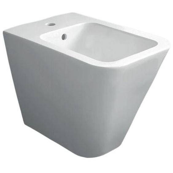 Boden-Bidet 36x55 cm aus keramik serie Crio | Glänzendes Weiß - Standard