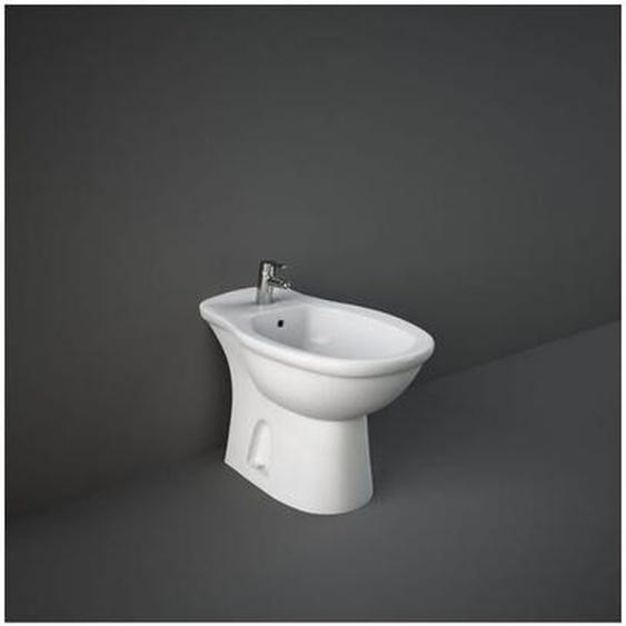 Boden-Bidet aus keramik 36,5x58 cm serie Oxford | Glänzendes Weiß - Standard