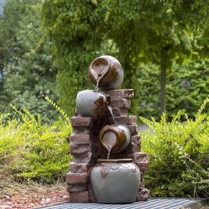 Bodenbrunnen Caymen aus Harz und Polystein