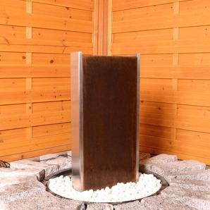 Bodenbrunnen Hawksbill aus Metall mit Licht