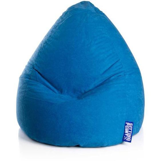 Bodenkissen in Blau Relaxen