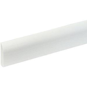 BODENMEISTER : Sockelleiste »Biegeleiste Oberkante abgerudet weiß«, flexibel, biegbar, Höhe: 4,4 cm
