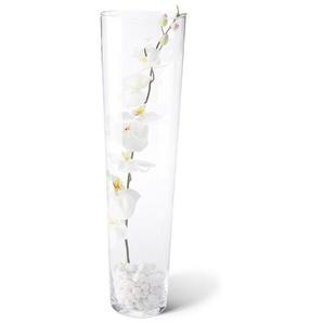 Bodenvase, konisch, Transparent, Glas 70 cm