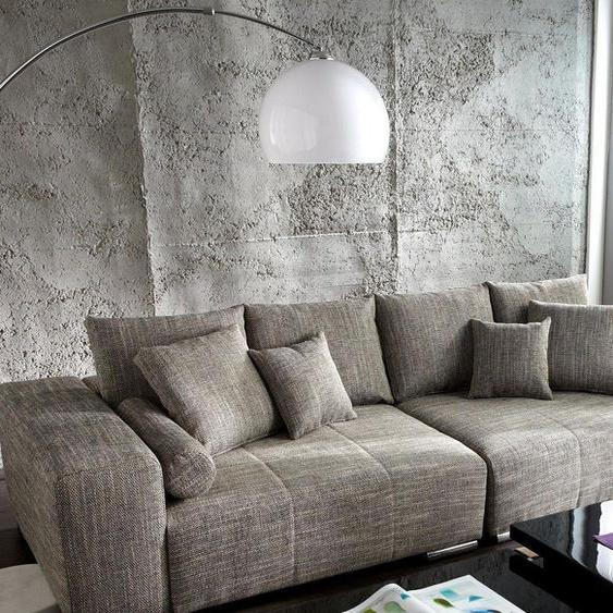Bogenlampe Big-Deal XL Lounge Weiß Marmor höhenverstellbar, Stehleuchten