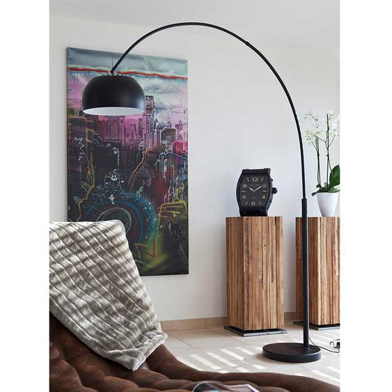 Bogenlampe in Schwarz 195 cm hoch