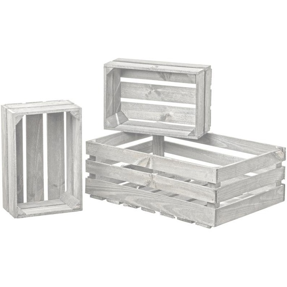 BOLTZE Deko-Kiste, Weiß, Holz