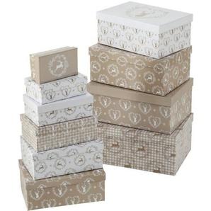 BOLTZE Geschenkbox »Geschenkbox Leopold, 10 tlg., Set 10« (10 Stück)