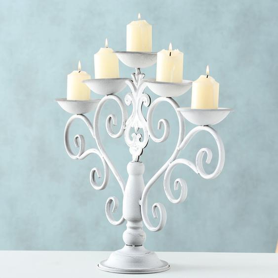 BOLTZE Kerzenhalter Malou 14x54x44 cm weiß Kerzen Laternen Wohnaccessoires