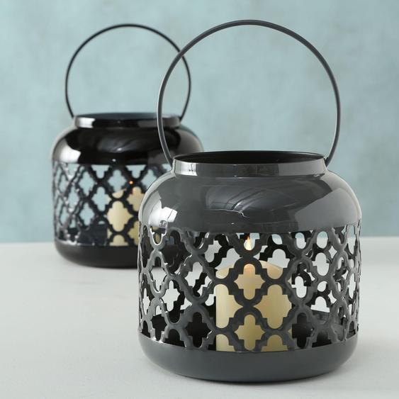 BOLTZE Laterne Mahdia H: 16 cm schwarz Kerzenhalter Kerzen Laternen Wohnaccessoires