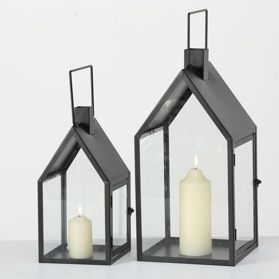 BOLTZE Laterne Nuovo 16 / 21x16 21x33 45 cm schwarz Kerzenhalter Kerzen Laternen Wohnaccessoires