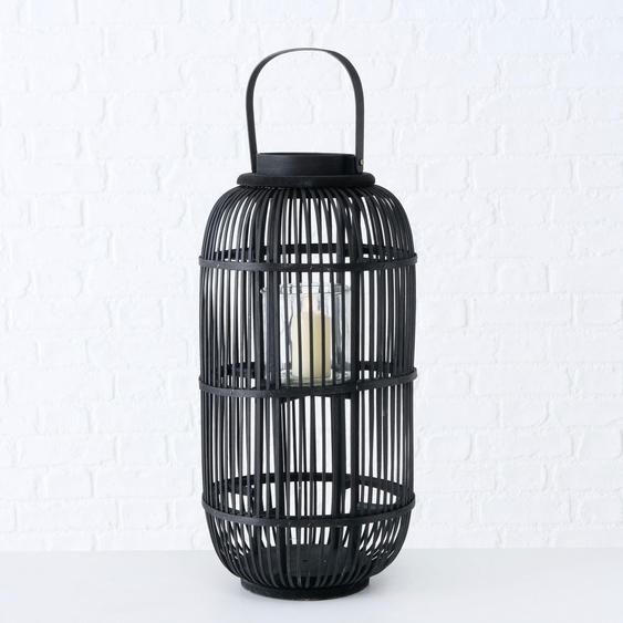 BOLTZE Laterne Samea H: 55 cm schwarz Kerzenhalter Kerzen Laternen Wohnaccessoires