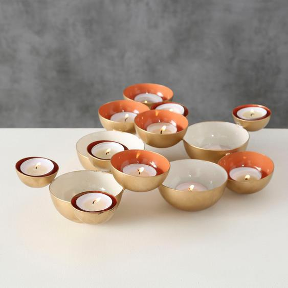 BOLTZE Windlicht Koralle, H 7 cm 27x38x7 goldfarben Kerzenhalter Kerzen Laternen Wohnaccessoires