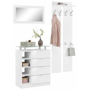 borchardt Möbel Garderoben-Set »Dolly«, (Set, 3-tlg), mit Metallgriffen und Hochglanzfronten