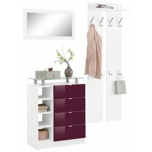 Borchardt Möbel Garderoben-Set »Dolly« (3-tlg.) mit Metallgriffen und Hochglanzfronten